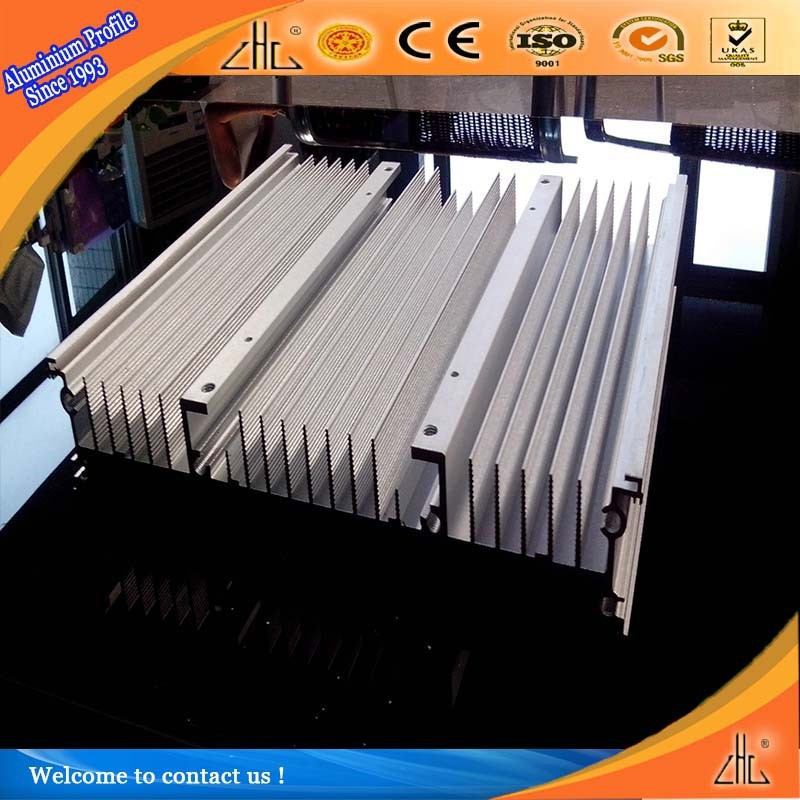 6063 T5 / 6061 T6 extruded aluminum heatsink / heat sink aluminium profile with cooling fins / aluminum heatsink manufacturer