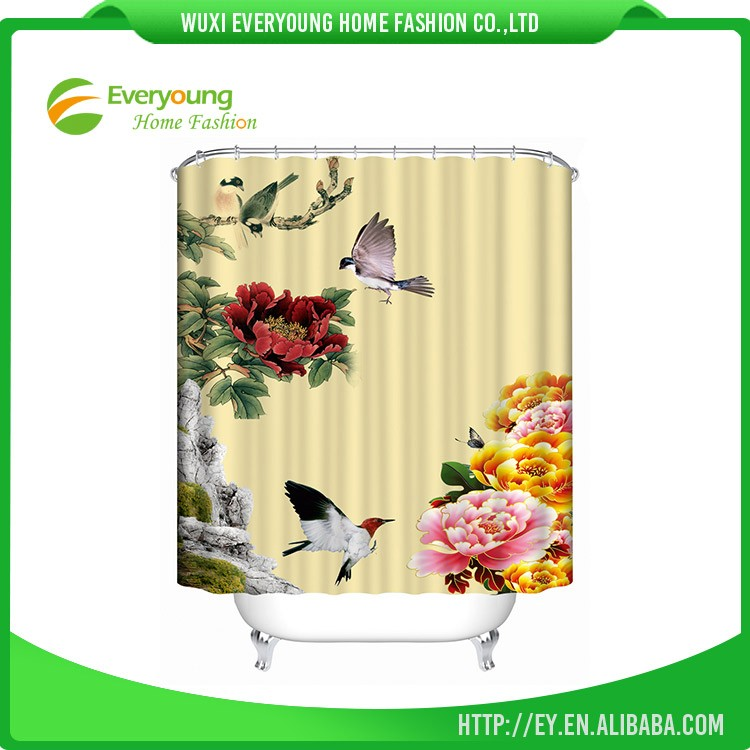 Hot Selling Promotional Color Changing Shower Curtain