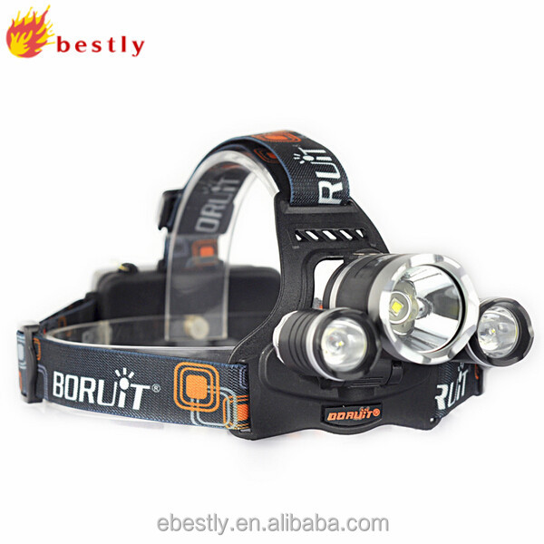 Best selling waterproof BORUIT RJ-5000 rechargeable LED headlamp led headlamp flashlight manufacturer/RJ-5000 LED headlamp