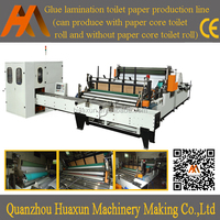 Automatic embossed rewinding toilet paper roll machine for sale