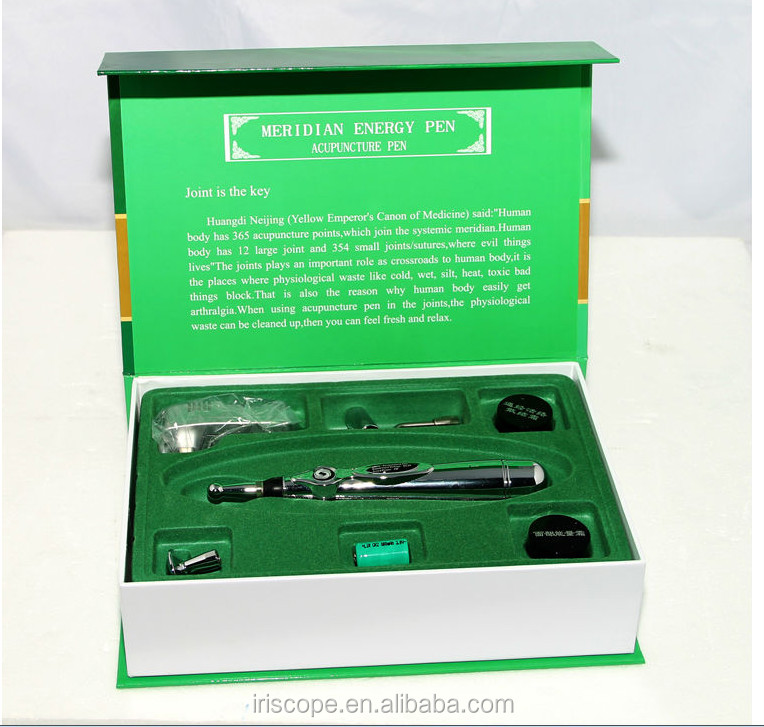 Portable Electronic Acupuncture Stimulator Pen with 3 Massage Head