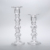 China biggest glass manufacturer supply glass crystal candlestick holder