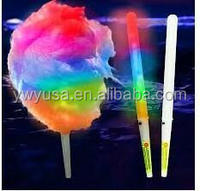 LED flashing cotton candy stick glow stick for concert