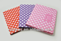 Fancy Tablet Protective Wallet Polka Case with Stand for iPad 2 3 4