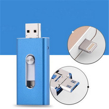 High quality custom logo multi function usb pendrive metal push-pull three in one otg flash drives for gift
