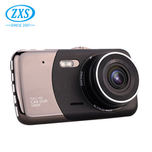 ZXS-A11 cheap 4'' Dual lens loop Recording driver recorder Thin manual car hd dvr car cam