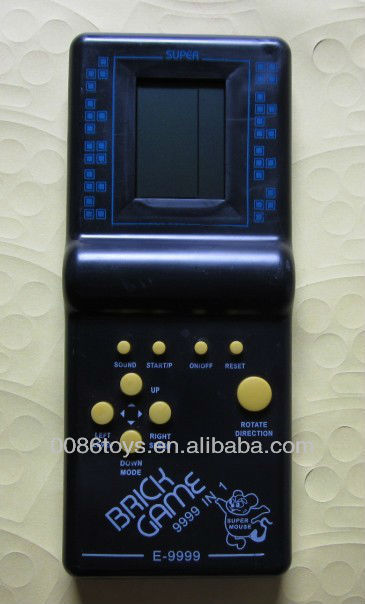 Black Color Brick Game 9999 in 1