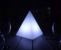 acrylic led pyramid / glow pyramids