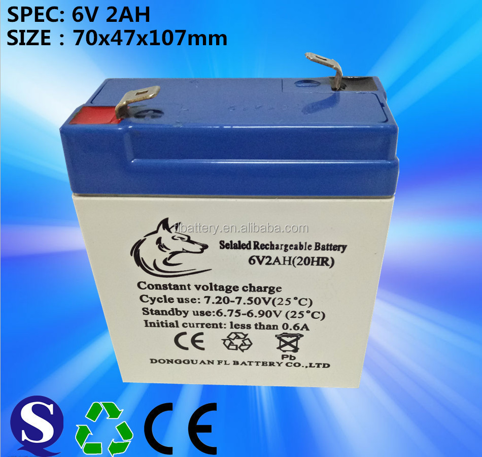 sealed maintenance free rechargeable VRLA Lead-acid battery series (6V/6Ah) Standard battery is design for gen