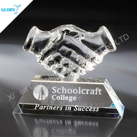 Quality Friendly Crystal Hand Trophy Corporate
