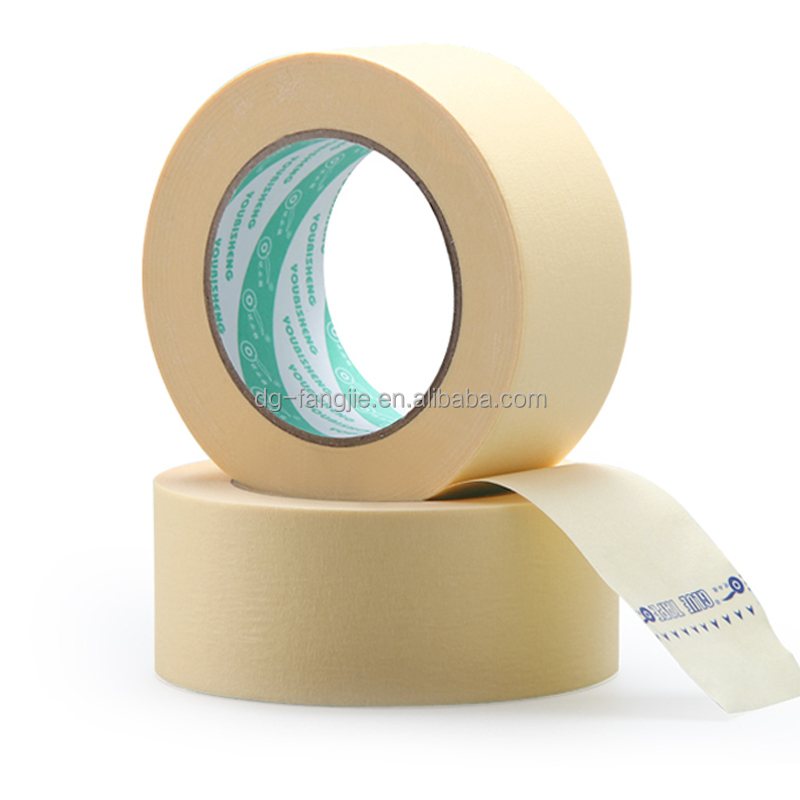 Fangjie Factory price adhesive masking tape, color white brown masking tape