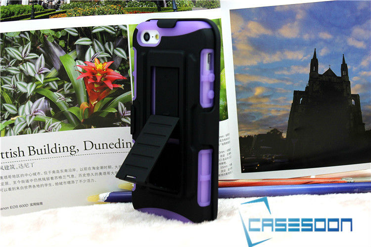 Cell Phone Cases For iPhone 5 5G HYBRID CASE COVER WITH BELT-CLIP HOLSTER