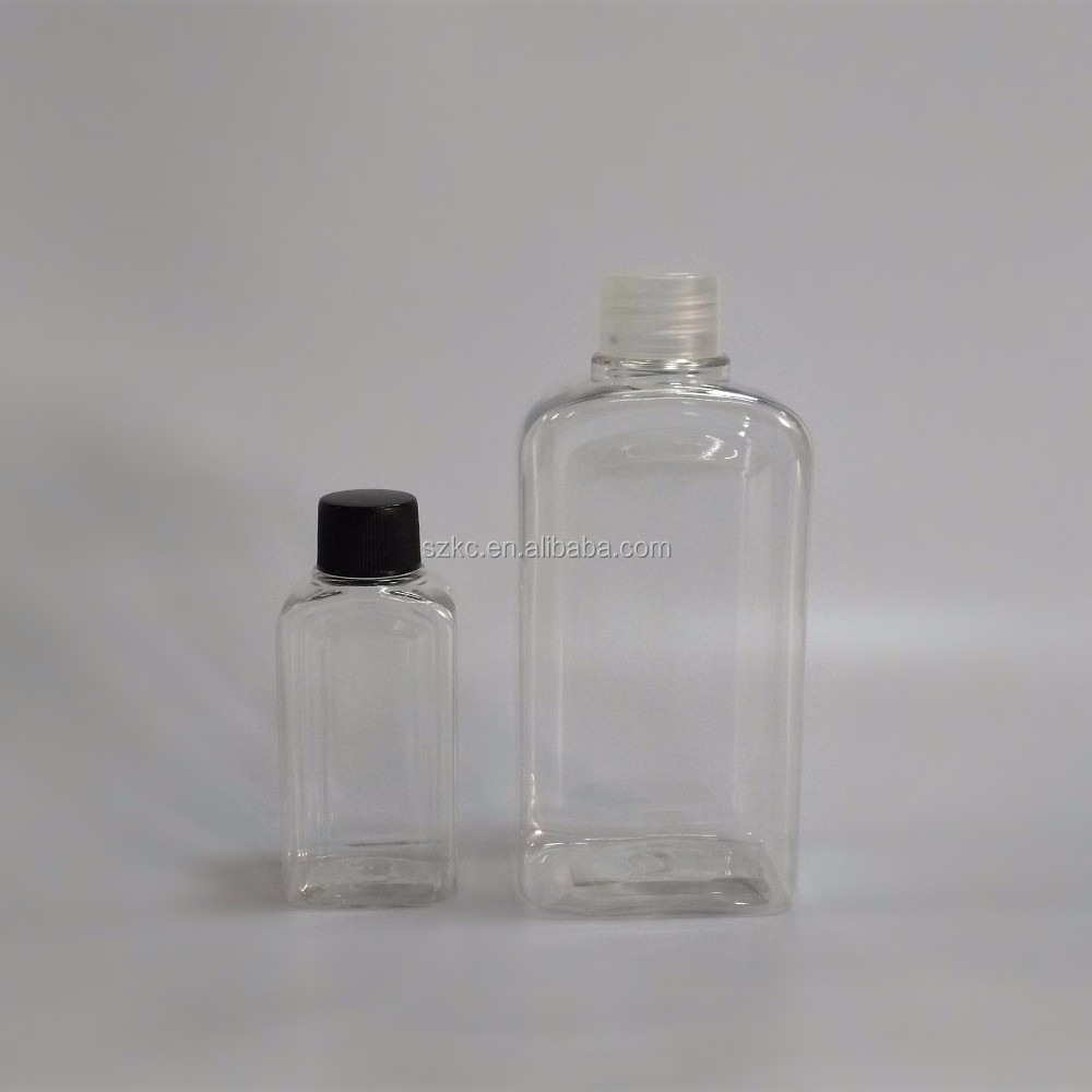 plastic pump sprayer bottle 60ml/250ml square PET bottle for cosmetic/perfume/essential oil/mouthwash