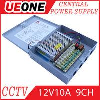 security cctv camera power supply 12V 10Amp 9ch power supply