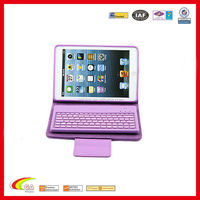 Stand leather case for ipad mini with Removable bluetooth keyboard, For ipad mini case stand leather wholesales