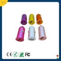 Hot sales new design colorful micro charger usb car charger for single port mobile phone charger