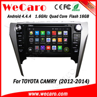 "Wecaro 8"" android 4.4.4 WC-TC8016 WIFI 3G Touch Screen car dvd player for toyota camry 2012 2013 2014 gps navigation"