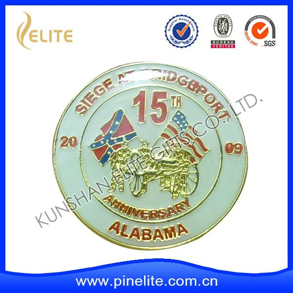 china factory OEM lapel badges butterfly clutch pin,sports meet badges for match