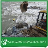 River beds protection hexagonal mesh sack gabions with wire diameter 2.7mm
