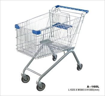 spain certified safe durable supermarket trolley shopping carts 1025*580*1000MM with 160L