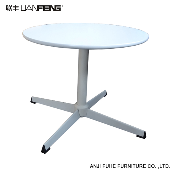 Affordable white simple design metal bar table with high load ability