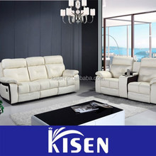 Leather modern recliner royal classical sofa