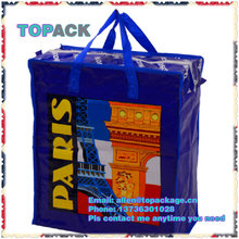 high quality zipper Cheap recycled pp woven bags with top zipper