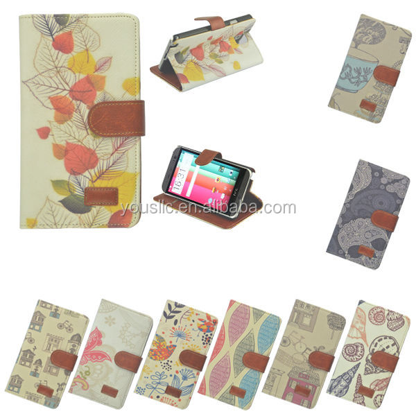 RETRO NEW BOOK SIDE CARD HOLDER WALLET FLIP LEATHER CASE COVER FOR HTC ONE M8