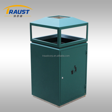 High quality outdoor metal recycle trash bin