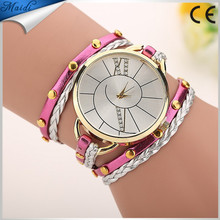 2017 Fashion Design Casual Watches Leather Bracelet Wristwatch Ladies WW035