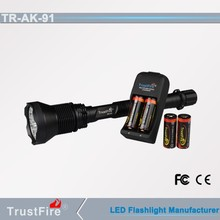 high power trustfire ak-91 18000-lumen worked by cree led flashlight torch