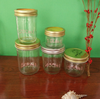2016 haonai 100ml 200ml 300ml 400ml 500ml glass mason jar with metal lid/wide mouth mason jam jar.