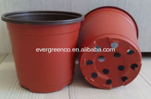 disposable round plastic flower pot, cheap garden pot