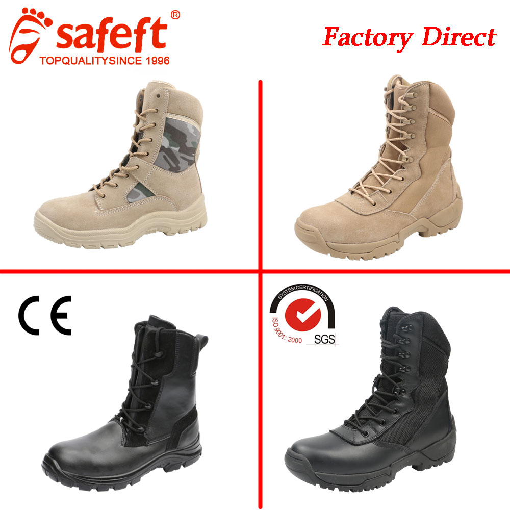 Beige black cheap cow suede leather saudi arabia men swat used kenya army police tacical desert military boots/shoes