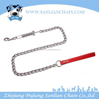 China wholesale fashion style strong pet choke chain spring dog leash