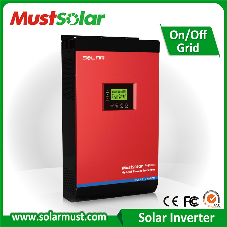 4KVA solar power inverter, hybrid inverter connected grid tied with battery storage