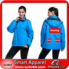 Hot sale comfortable ladies woodland jacket with battery heating system electric heating clothing warm OUBOHK