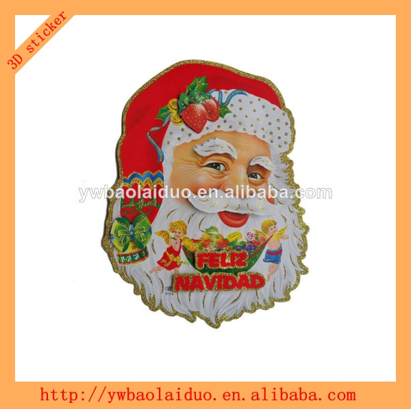 3D window christmas decorations made in china sticker