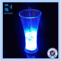 custom led flashing cup for party supplies and club water sensor led plastic cup