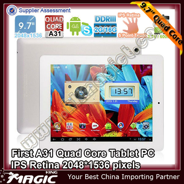 9.7inc Top 1 Speed Android tablet pc onda v972 Quad core