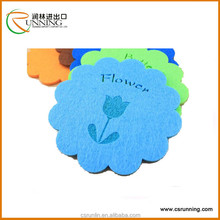 Colorful polyester punched felt fabric for decoration and craft