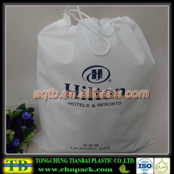 cheap non woven drawstring bag,laundry bag,Non-woven hotel laundry bag