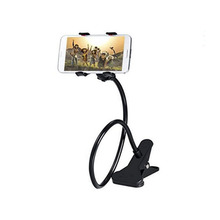 360 Rotating goseneck double clip holder mobile phone stand holder for bathroom car motorcycle