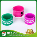 cheap custom logo embossed/debossed/screen printing silicone wristbands wholesale slap bracelets factory