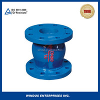 China flange cast iron spring loaded silent check valve