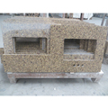 Newstar Stone fabricated golden granite countertop for residential project kitchen