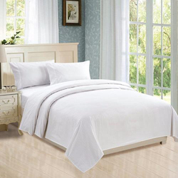 Directly supplier white polyester cotton hotel bed sheets bedding set