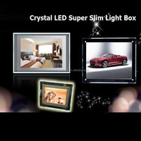 Hanging Display LED Acrylic Crystal Light Frame Crystal Picture Lightbox Frame with LED Backlit