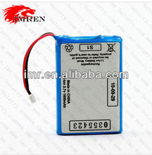 IMR environmentally friendly Rechargeable Li-ion Battery For 1650mAH 3.7V for power tool