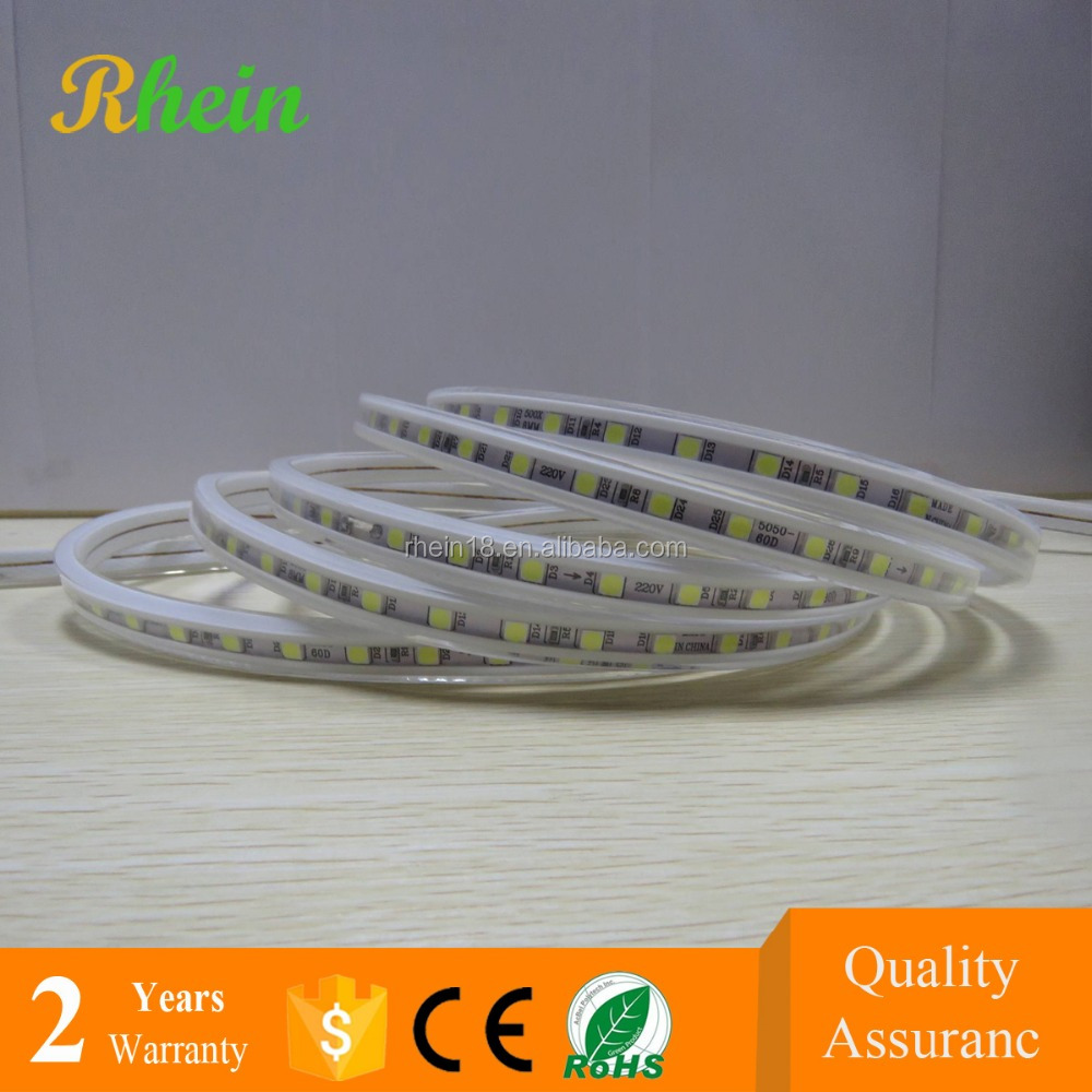 Continuous length flexible SMD 5050 RGB 110V 220V 230V LED strip light